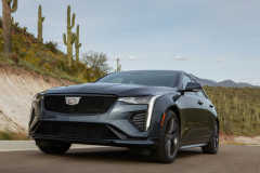 2022-Cadillac-CT4-V-First-Drive-Exterior-005-front-three-quarters-low-angle
