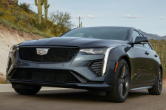 2022-Cadillac-CT4-V-First-Drive-Exterior-006-front-three-quarters-low-angle