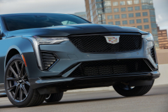2022-Cadillac-CT4-V-First-Drive-Exterior-019-front-end-grille-Cadillac-logo