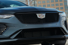 2022-Cadillac-CT4-V-First-Drive-Exterior-020-front-end-grille-Cadillac-logo