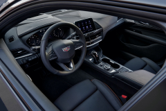 2022-Cadillac-CT4-V-First-Drive-Interior-001-cockpit-steering-wheel-center-stack-center-console