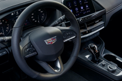 2022-Cadillac-CT4-V-First-Drive-Interior-003-cockpit-steering-wheel-center-stack-center-console