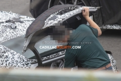 2020 Cadillac CT4 Sedan Spy Pictures - Exterior - August 2018 015 - open trunk