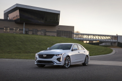 2020-Cadillac-CT4-Sport-Exterior-003-front-three-quarters