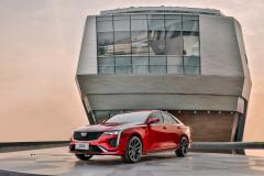 2020-Cadillac-CT4-Sport-Sedan-Red-Obsession-Tintcoat-Exterior-001-front-three-quarters