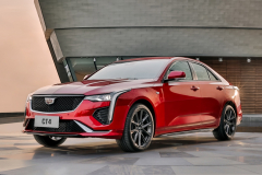 2020-Cadillac-CT4-Sport-Sedan-Red-Obsession-Tintcoat-Exterior-002-front-three-quarters
