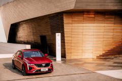 2020-Cadillac-CT4-Sport-Sedan-Red-Obsession-Tintcoat-Exterior-003-front-three-quarters