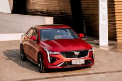 2020-Cadillac-CT4-Sport-Sedan-Red-Obsession-Tintcoat-Exterior-004-front-three-quarters