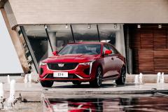 2020-Cadillac-CT4-Sport-Sedan-Red-Obsession-Tintcoat-Exterior-005-front-three-quarters