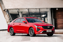 2020-Cadillac-CT4-Sport-Sedan-Red-Obsession-Tintcoat-Exterior-009-front-three-quarters