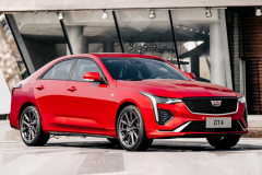 2020-Cadillac-CT4-Sport-Sedan-Red-Obsession-Tintcoat-Exterior-010-front-three-quarters