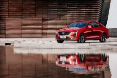 2020-Cadillac-CT4-Sport-Sedan-Red-Obsession-Tintcoat-Exterior-011-front-three-quarters