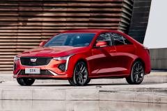 2020-Cadillac-CT4-Sport-Sedan-Red-Obsession-Tintcoat-Exterior-012-front-three-quarters