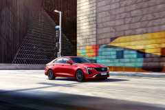 2020-Cadillac-CT4-Sport-Sedan-Red-Obsession-Tintcoat-Exterior-013-front-three-quarters