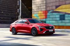 2020-Cadillac-CT4-Sport-Sedan-Red-Obsession-Tintcoat-Exterior-014-front-three-quarters