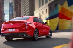 2020-Cadillac-CT4-Sport-Sedan-Red-Obsession-Tintcoat-Exterior-017-rear-three-quarters