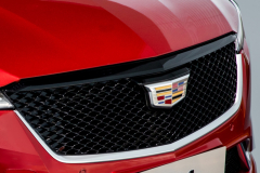 2020-Cadillac-CT4-Sport-Sedan-Red-Obsession-Tintcoat-Exterior-019-Cadillac-logo-grille