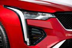 2020-Cadillac-CT4-Sport-Sedan-Red-Obsession-Tintcoat-Exterior-020-headlamp
