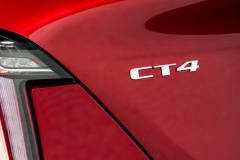2020-Cadillac-CT4-Sport-Sedan-Red-Obsession-Tintcoat-Exterior-024-CT4-badge-logo