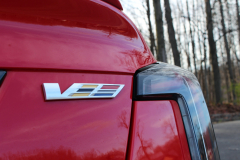 2020-Cadillac-CT5-V-CS-Garage-Velocity-Red-Exterior-007-V-Series-badge-logo-on-trunk