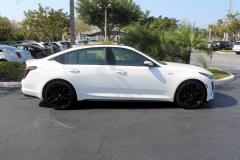 2020-Cadillac-CT5-V-Summit-White-20-inch-Gloss-Black-Wheels-SSJ-Exterior-004