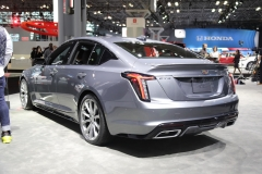 2020 Cadillac CT5 350T Sport - 2019 New York Internation Auto Show Live - Exterior 004 rear three quarters