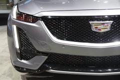 2020 Cadillac CT5 350T Sport - 2019 New York Internation Auto Show Live - Exterior 006 front grille logo headlight