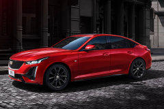 2020-Cadillac-CT5-Sedan-in-Red-on-Street-002