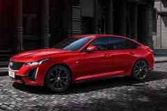 2020-Cadillac-CT5-Sedan-in-Red-on-Street-002