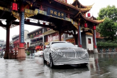 2020 Cadillac CT5 in China - camouflage wrap 001
