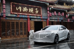 2020 Cadillac CT5 in China - camouflage wrap 003