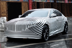 2020 Cadillac CT5 in China - camouflage wrap 004