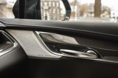 2020-Cadillac-XT5-Sport-Interior-022-front-passenger-door-panel-Bose-Performance-Series-Speaker-Grille-Treatment-Carbon-Fiber-Decor