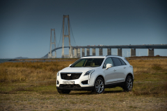 2020-Cadillac-XT5-Sport-in-Denmark-with-Russian-License-Plates-Exterior-003-white-front-three-quarters
