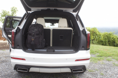 2020-Cadillac-XT6-Cargo-Area-Trunk-XT6-Drive-003-third-row-upright-and-backpack-in-trunk