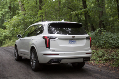 2020-Cadillac-XT6-Sport-Exterior-XT6-Drive-Forest-009-rear-three-quarters