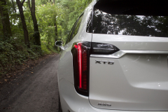 2020-Cadillac-XT6-Sport-Exterior-XT6-Drive-Forest-011-tail-light-with-XT6-badge-logo
