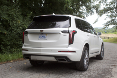 2020-Cadillac-XT6-Sport-Exterior-XT6-Drive-Forest-019-rear-three-quarters