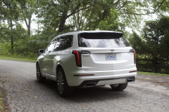 2020-Cadillac-XT6-Sport-Exterior-XT6-Drive-Forest-022-rear-three-quarters