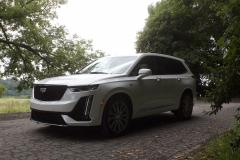 2020-Cadillac-XT6-Sport-Exterior-XT6-Drive-Forest-023-front-three-quarters