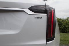 2020-Cadillac-XT6-Sport-Exterior-XT6-Drive-Winery-033-rear-end-400-badge-logo-tail-light