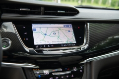 2020 Cadillac XT6 Sport - Interior - First Drive - July 2019 003 center screen with carbon fiber dashboard