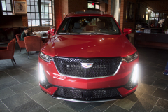 2020-Cadillac-XT6-Sport-with-Platinum-Package-Red-Horizon-Tintcoat-XT6-First-Drive-Lobby-001-Front-End