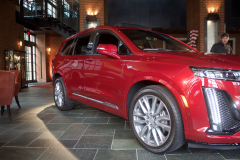 2020-Cadillac-XT6-Sport-with-Platinum-Package-Red-Horizon-Tintcoat-XT6-First-Drive-Lobby-003-Front-Three-Quarters