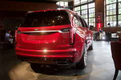 2020-Cadillac-XT6-Sport-with-Platinum-Package-Red-Horizon-Tintcoat-XT6-First-Drive-Lobby-004-Rear-Three-Quarters