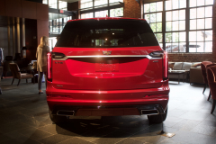 2020-Cadillac-XT6-Sport-with-Platinum-Package-Red-Horizon-Tintcoat-XT6-First-Drive-Lobby-005-Rear-End