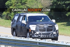 2021 Cadillac Escalade ESV Spy Shots - September 2019 - exposed grille 001