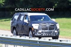 2021 Cadillac Escalade ESV Spy Shots - September 2019 - exposed grille 002