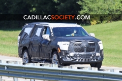 2021 Cadillac Escalade ESV Spy Shots - September 2019 - exposed grille 003