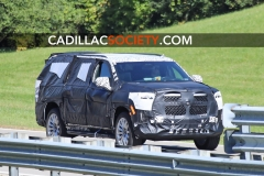 2021 Cadillac Escalade ESV Spy Shots - September 2019 - exposed grille 004
